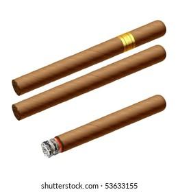 Cuban cigars. Vector illustration.
