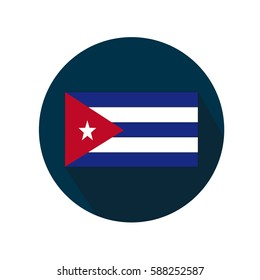 The Cuban flag white background.
