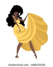 cuban lady dancing rumba salsa