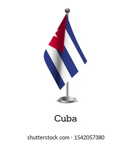 Cuba's national flag. High-resolution images of the national flag trying to fly on poles. vector flag illustration