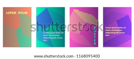 cube abstract halftone poster design template stock vector royalty