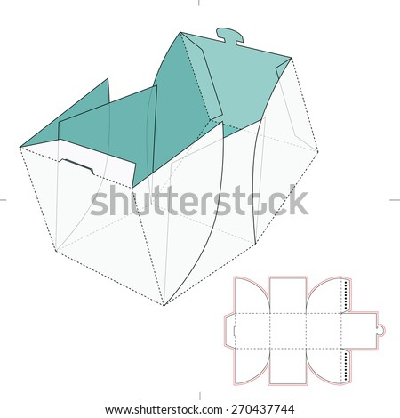 cube box die cut template stock vector royalty free 270437744