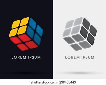 Cube Box sign , logo, symbol, icon, graphic, vector .