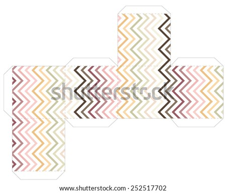cube box template stock vector royalty free 252517702 shutterstock