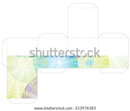 cube box template stock vector royalty free 253976383 shutterstock