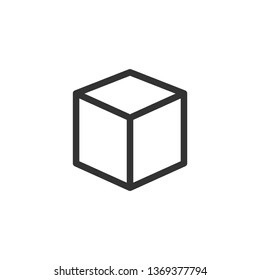 Cube, Cubic or Box Icon Illustration As A Simple Vector Sign & Trendy Symbol for Design, Websites, Presentation or Mobile Application.