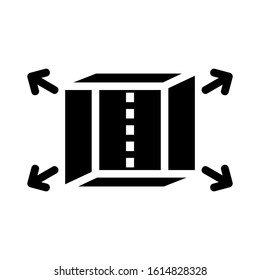 cube icon isolated sign symbol vector illustration - high quality black style vector icons