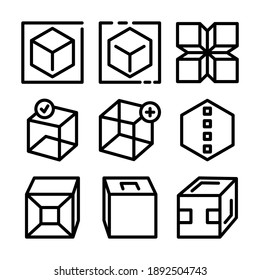 cube icon or logo isolated sign symbol vector illustration - Collection of high quality black style vector icons