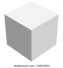 Cube icon with perspective - 3d model of a cube