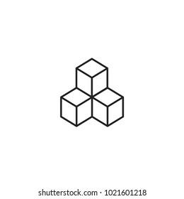 cube icon. sign design