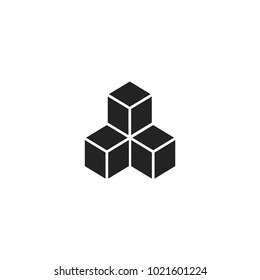 cube icon. sign design