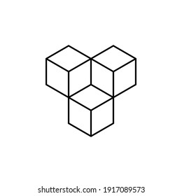 cube Icon. In Trendy Design Vector. vector illustration on white background