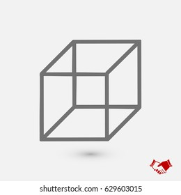 cube icon, vector best flat icon, EPS