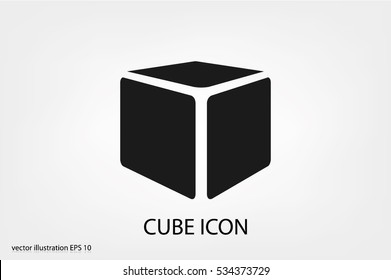 Cube icon vector illustration.