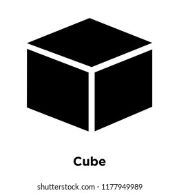 Cube icon vector isolated on white background, logo concept of Cube sign on transparent background, filled black symbol
