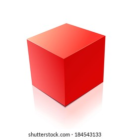 cube isolated on white