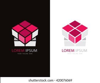 Cube isometric logo