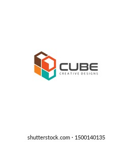cube logo. flat illustration stack of cubes - logo design vector stack of cubes, various colors cubes icon