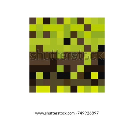 Cube symbol isolated on