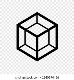 Cube, tesseract icon