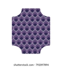 Cubes Abstract frame emblem