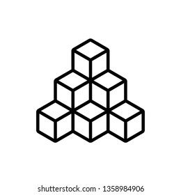 Cubes graphic design template vector isolated illustration