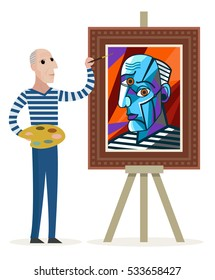 cubist great painter face portrait painting workshop
