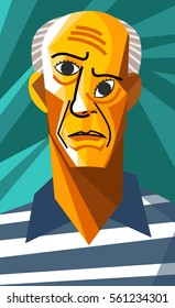 cubist old man great painter self portrait