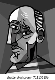 cubist portrait painting
