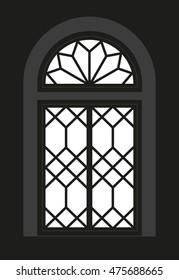 Cubist window - Silhouette - Vista - vector graphic