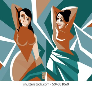 cubist women painting