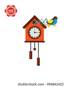 Cuckoo Clock Vector Icon