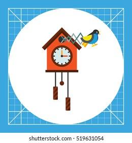 Cuckoo Clock Vector Icon