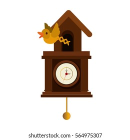cuckoo watch time isolated icon