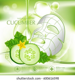 Cucumber Natural Moisture Skin Care Cosmetic.