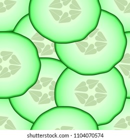Cucumber patterned seamless vector texture, eps 10.