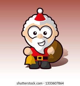 cuddly Santa claus character