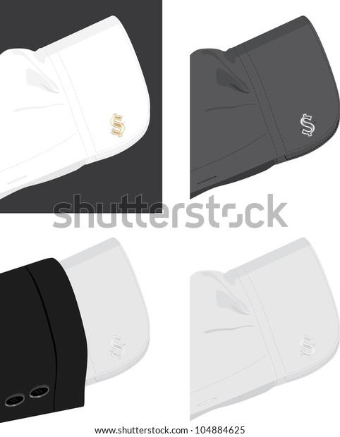 cuff-shirt-trendy-cufflinks-vector-600w-
