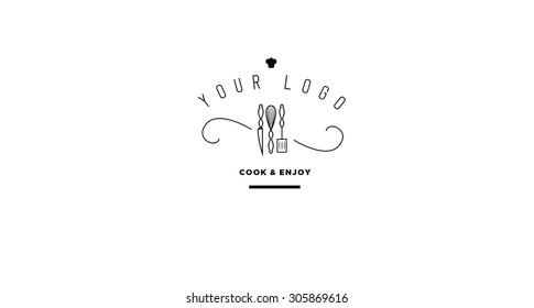 Culinary cooking logo, icon design in vector format