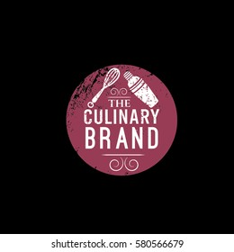 Culinary vector logo design template. Gourmet or Chef sign, symbol (icon, label)