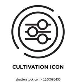 Cultivation icon vector isolated on white background, Cultivation transparent sign , line symbol or linear element design in outline style