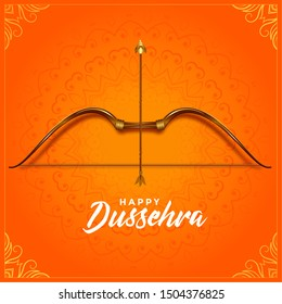 cultural happy dussehra bow and arrow festival greeting