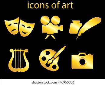 culture and art set of icons.vector illustration