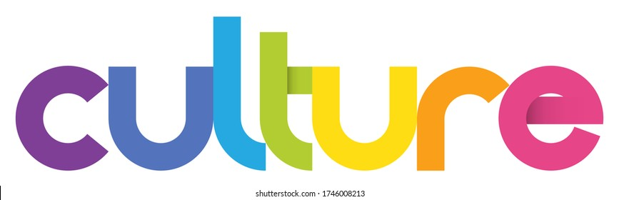 CULTURE colorful vector geometric type banner