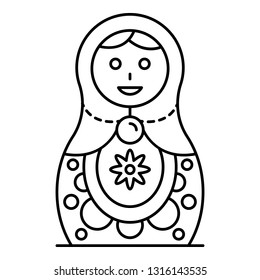 Culture nesting doll icon. Outline culture nesting doll vector icon for web design isolated on white background
