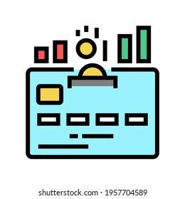 cumulative card color icon vector. cumulative card sign. isolated symbol illustration