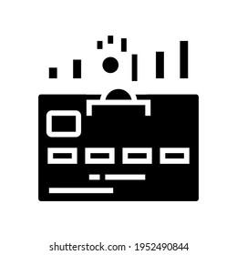 cumulative card glyph icon vector. cumulative card sign. isolated contour symbol black illustration
