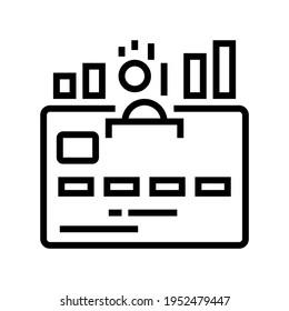 cumulative card line icon vector. cumulative card sign. isolated contour symbol black illustration