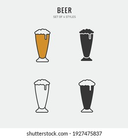 cup of beer vector icon alcohol