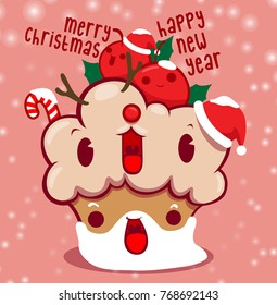 CUP CAKE SANTA christmas happy new year